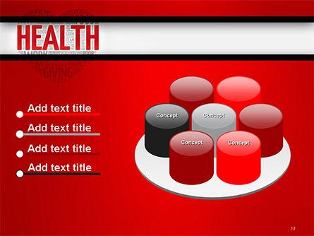 Health Word Cloud PowerPoint Template Slide 12
