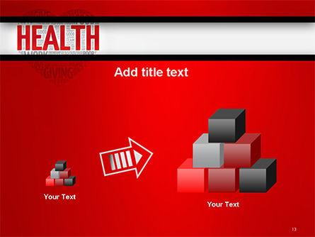 Health Word Cloud PowerPoint Template Slide 13