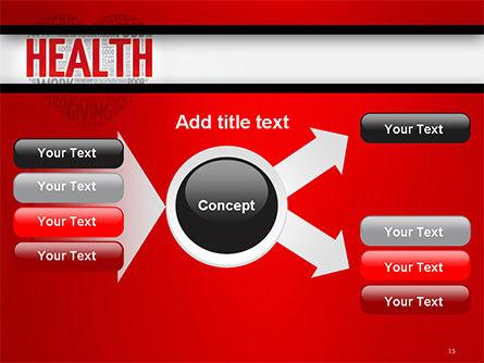 Health Word Cloud PowerPoint Template Slide 15