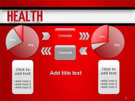 Health Word Cloud PowerPoint Template Slide 16