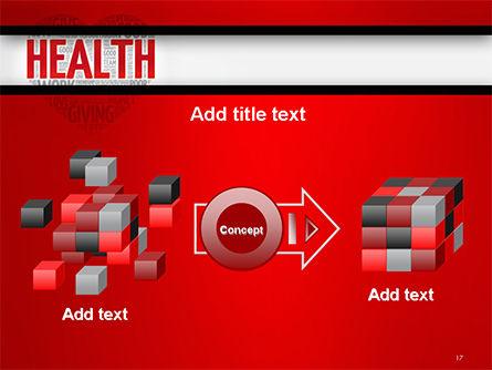Health Word Cloud PowerPoint Template Slide 17