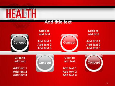 Health Word Cloud PowerPoint Template Slide 18