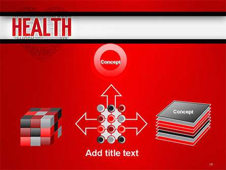 Health Word Cloud PowerPoint Template Slide 19