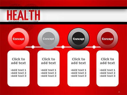 Health Word Cloud PowerPoint Template Slide 5
