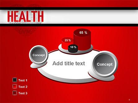 Health Word Cloud PowerPoint Template Slide 6
