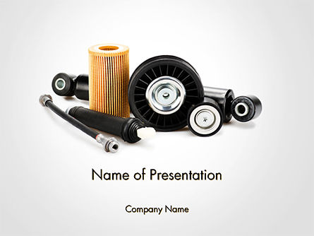 Auto Replacement Parts PowerPoint Template, 14660, Cars and Transportation — PoweredTemplate.com