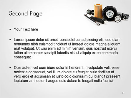 Auto Replacement Parts PowerPoint Template Slide 2