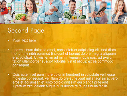 People in the Store PowerPoint Template, Slide 2, 14661, People — PoweredTemplate.com