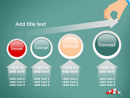 Doctor's Hand and Pills PowerPoint Template Slide 13