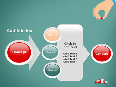 Doctor's Hand and Pills PowerPoint Template Slide 17