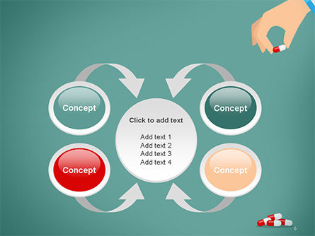 Doctor's Hand and Pills PowerPoint Template Slide 6