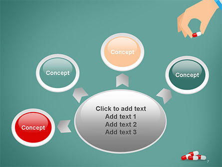 Doctor's Hand and Pills PowerPoint Template Slide 7
