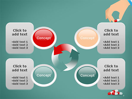 Doctor's Hand and Pills PowerPoint Template Slide 9