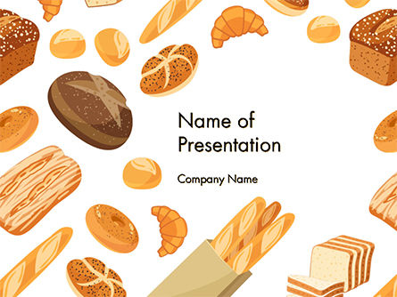Food & Beverage: Bread Background PowerPoint Template #14663