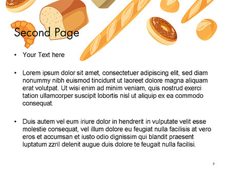Bread Background PowerPoint Template Slide 2