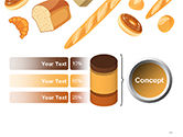 Bread Background PowerPoint Template#11