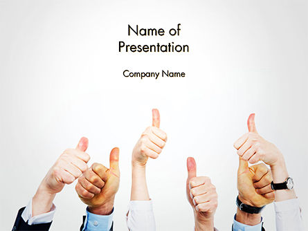 Thumbs Up PowerPoint Template