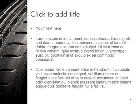 Tire Closeup PowerPoint Template, Slide 3, 14667, Cars and Transportation — PoweredTemplate.com
