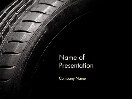 Tire Closeup PowerPoint Template, 14667, Cars and Transportation — PoweredTemplate.com
