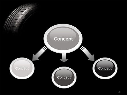 Tire Closeup PowerPoint Template, Slide 4, 14667, Cars and Transportation — PoweredTemplate.com