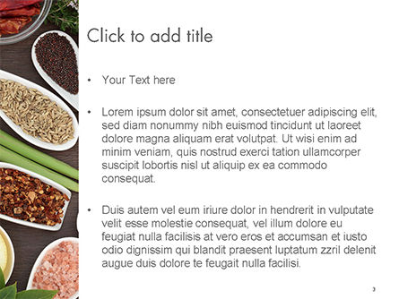 Culinary Spices and Herbs PowerPoint Template, Slide 3, 14668, Food & Beverage — PoweredTemplate.com