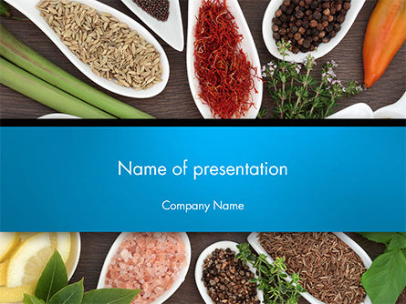 culinary spices and herbs powerpoint template, backgrounds | 14668, Modern powerpoint