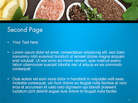 Culinary Spices and Herbs PowerPoint Template, Slide 2, 14668, Food & Beverage — PoweredTemplate.com