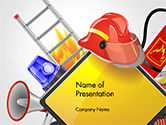 Careers/Industry: Fire Prevention Equipment PowerPoint Template #14670