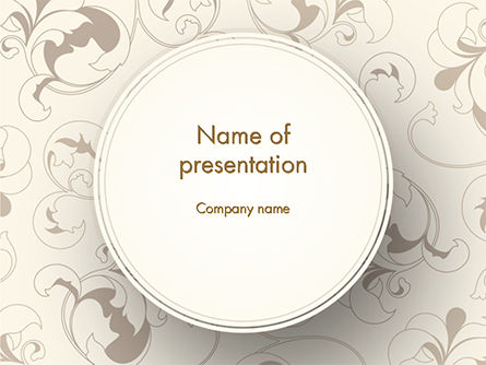 Vintage Style Frame PowerPoint Template, 14671, Abstract/Textures — PoweredTemplate.com
