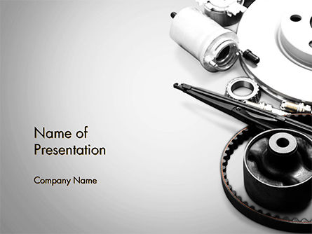Cars and Transportation: Car Accessories PowerPoint Template #14673