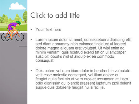 Bicycle Race Illustration PowerPoint Template, Slide 3, 14675, Sports — PoweredTemplate.com