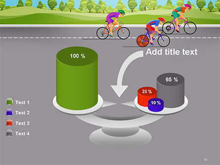 Bicycle Race Illustration PowerPoint Template Slide 10