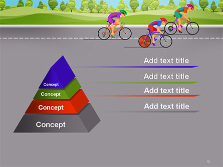 Bicycle Race Illustration PowerPoint Template Slide 12
