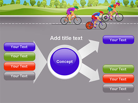 Bicycle Race Illustration PowerPoint Template Slide 14