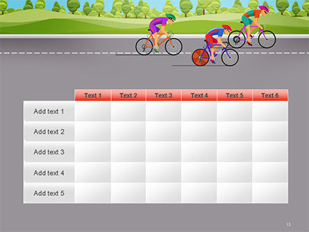 Bicycle Race Illustration PowerPoint Template Slide 15
