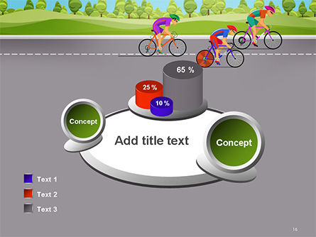 Bicycle Race Illustration PowerPoint Template Slide 16