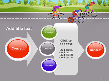 Bicycle Race Illustration PowerPoint Template Slide 17