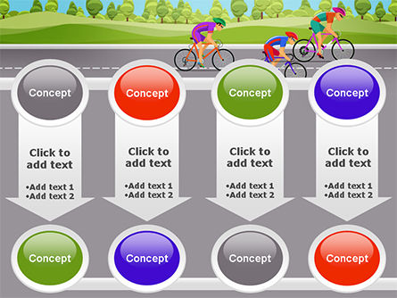 Bicycle Race Illustration PowerPoint Template Slide 18