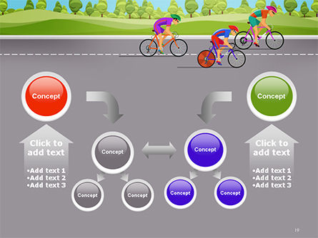 Bicycle Race Illustration PowerPoint Template Slide 19