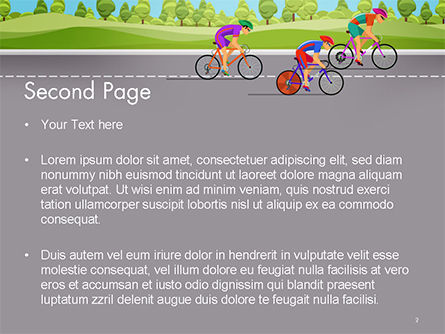 Bicycle Race Illustration PowerPoint Template, Slide 2, 14675, Sports — PoweredTemplate.com