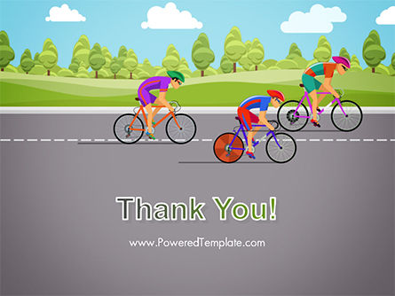 Bicycle Race Illustration PowerPoint Template Slide 20
