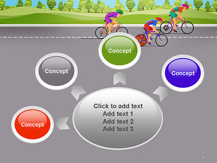 Bicycle Race Illustration PowerPoint Template Slide 7