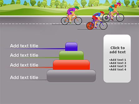 Bicycle Race Illustration PowerPoint Template Slide 8