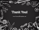 Food Doodles on Chalkboard PowerPoint Template#20