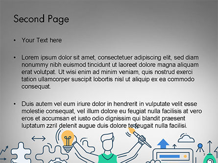 Creative Process Line Design PowerPoint Template, Slide 2, 14677, Business Concepts — PoweredTemplate.com
