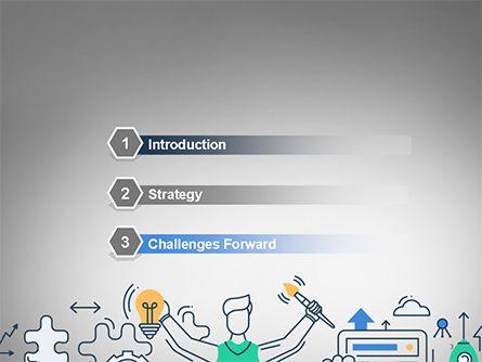 Creative Process Line Design PowerPoint Template, Slide 3, 14677, Business Concepts — PoweredTemplate.com