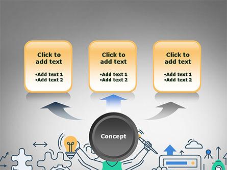 Creative Process Line Design PowerPoint Template, Slide 4, 14677, Business Concepts — PoweredTemplate.com