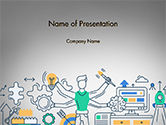 Business Concepts: Creative Process Line Design PowerPoint Template #14677