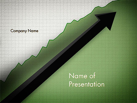 Business Concepts: Straight Diagonal Arrow PowerPoint Template #14679