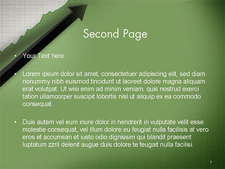 Straight Diagonal Arrow PowerPoint Template Slide 2